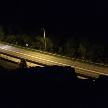 A465 Heads Of Valleys Section 2 Improvement - Night