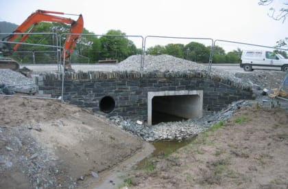 Otter Survey - Underpass Construction