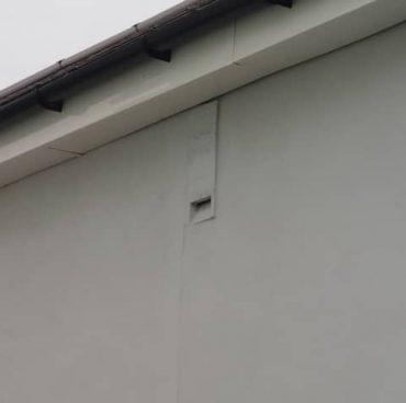 Bat box built into house